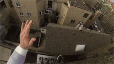 ヒィイイイ!一人称視点で見る屋根の上からのアイキャンフライ