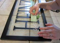 A StephMade Life: Framed vinyl lettering made with the Silhouette
