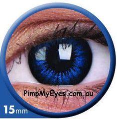 Big Eyes Cool Blue Colour Contact Lenses Pair - PimpMyEyes.com.au | PimpMyEyes