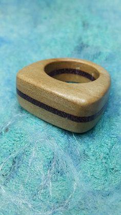 Olcay made this wooden ring October 16 Padauk & Cherry + carnauba