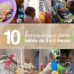 Nesta lista de 10 brincadeiras para bebês de 0 a 6 meses você vai encontrar dicas de como estimular a visão, audição e o uso das mãos do bebê.