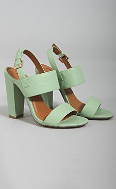 feelin' lucky sandal heel - mint