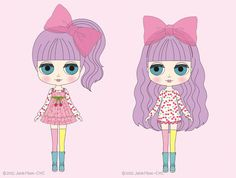 Blythe Puchippu Chappu Pepa We can't wait til December for this colorful & delightful doll to arrive! Inspired by Harajuku fashion. Lovely! #blythe #doll