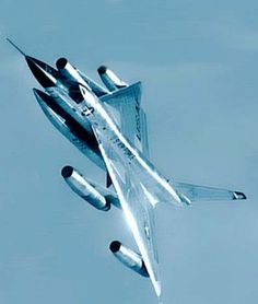 Convair B58 Hustler. The strategic, high-speed, high-altitude delta-wing bomber served in SAC from 1960 to 1970.  Its career was cut short because it was too expensive to maintain, had limited op-flex, and too complex. 3 man crew.