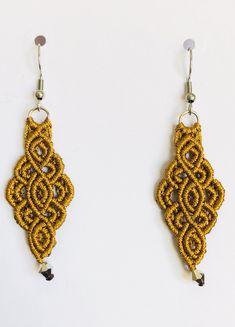 Macrame Earrings, Macrame Jewelry, Etsy Earrings, Crochet Earrings, Drop Earrings, Earrings Handmade, Hippie Style, Hippie Boho, Evil Eye Earrings