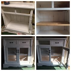 Indoor Rabbit Cage created from an old vintage cabinet that was took apart and converted into a 3 floored pad for his lordship #indoorrabbitcage #alfiespad