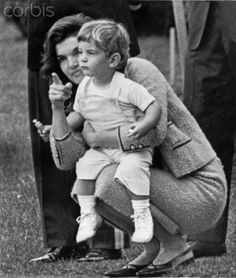 "peacelovethekennedys: "" john-f-kennedy-and-his-family: "" October 15 1962-Youngest Kennedy Watches White House Ceremony With the First Lady as a guide,John F.Kennedy,Jr.,son of the President watches his father give a formal greeting to Algerian..."