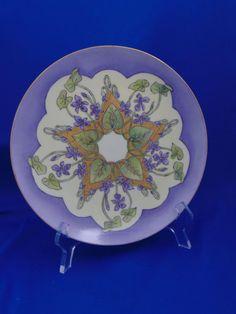 Haviland Limoges Arts & Crafts Radiating Violets Motif Plate (Signed…
