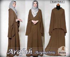 Baju Blus Muslim Terbaru Arafah Choco | Blus Muslim Modern
