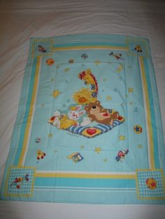 Baby Little Suzy/'s Zoo Vintage Cotton BabyToddler Quilt-Newly Made 2019