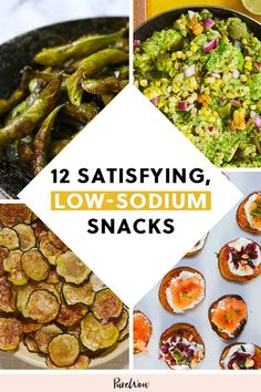 Appetizers 12 Low-Sodium Snacks That Are Still Satisfying Healthy recipes Appetizers heart healthy recipes low sodium LowSodium Satisfying Snacks Low Salt Snacks, Low Sodium Snacks, Low Salt Recipes, Low Sodium Diet, Low Sodium Recipes, No Calorie Snacks, Diet Recipes, Low Salt Meals, Fruit Recipes