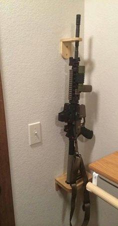 Knotty Pine Go To Gun Holder / Display Rack / Wall by dgdavisii