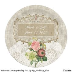 Victorian Country Burlap Floral Wedding