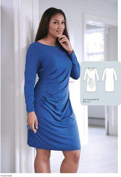 6aee28a9320c plus size kjole fra Alt om Håndarbejde. Køb mønsteret her