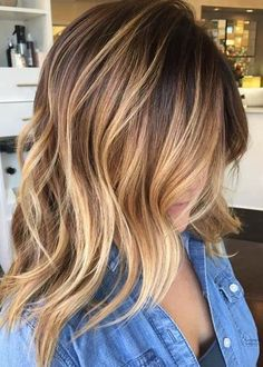 Brunette and honey caramel lights Hairstyle and Color ideas