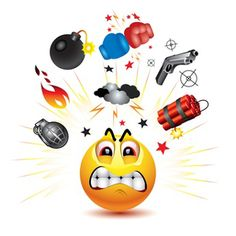 Smiley ball with symbols of fight and anger stock photography Angry Smiley, Angry Cartoon, Emoticon Faces, Smiley Emoji, Angry Face, Facebook Emoticons, Funny Emoticons, Funny Emoji