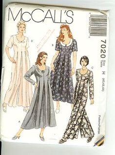 Dress Jumpsuit McCalls 7020 Pattern Womens Plus Size 40 42 44 Uncut - Sewing Pattern