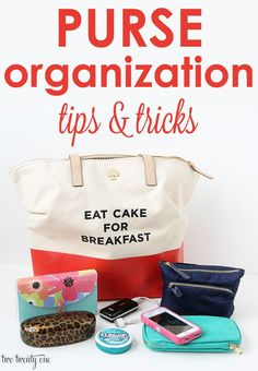 GREAT purse organization tips and tricks!