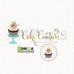 cupcake logo design premade logo logo stamp by stylemesweetdesign