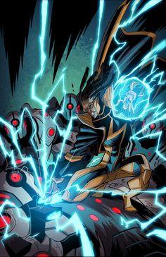 Static Shock - Comics by comiXology Comic Book Superheroes, Comic Book Characters, Comic Character, Comic Books Art, Book Art, Dc Comics Art, Marvel Dc Comics, Gi Joe, Dc Universe