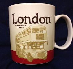 Starbucks London Mug v2 Buckingham Routemaster Bus 2015 Icon Coffee Cup #Starbucks