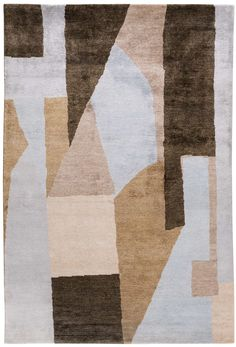 KELLY WEARSTLER | DISTRICT RUG. Hand knotted using bamboo fibre, which gives a silk like appearance