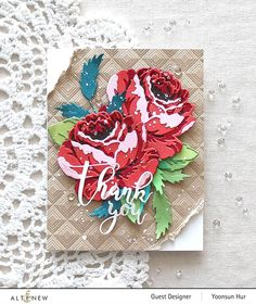 Rose Crafts, Altenew Cards, Love Stamps, Antique Roses, Marker Art, Card Maker, Card Sketches, Flower Cards, Card Stock