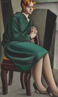 Mujer sentada (c. 1925) - Tamara de Lempicka