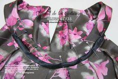 Patrón de costura gratis e instrucciones de confección Blusa cuello halter. Cubrir costura del cuello con sesgo