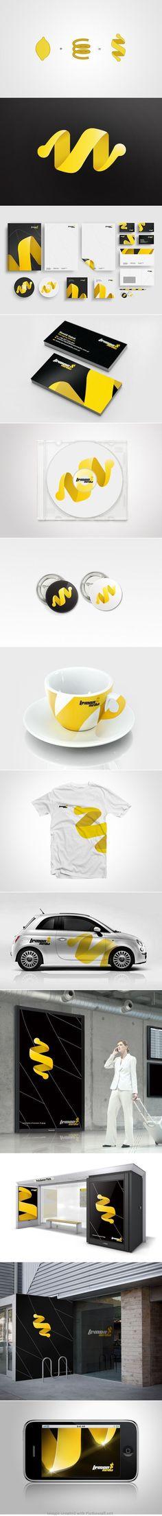 pinterest.com/fra411 #branding - Lemon Media brand identity