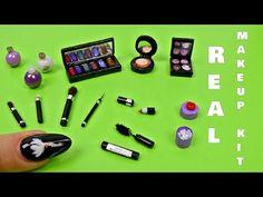 Miniature makeup kit really works diy │Diy miniature makeup kit │ Diy real miniature makeup kit Diy Makeup Kit, Makeup Crafts, Mini Makeup, Barbie Box, Barbie Dolls Diy, Diy Doll Bathtub, Diy Doll Miniatures, Diy Barbie Furniture, Barbie Makeup