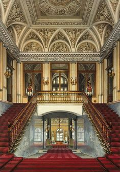 "archatlas: "" Interiors of the Winter Palace and the New Hermitage Konstantin Andreyevich Ukhtomsky """