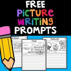 FREE Picture Writing Prompts FREE Picture Writing Prompts: Kindergarten to First Grade Get the FULL PACKET here! Writing is an important skills for all students. This packet offers 60 labeled picture prompts. First Grade Writing Prompts, Kindergarten Writing Prompts, Writing Prompts For Kids, Picture Writing Prompts, Writing Worksheets, Writing Lessons, Writing Workshop, Kids Writing, Teaching Writing