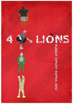 Four Lions (2010) ~ Minimal Movie Poster by Mads Svanegaard #amusementphile