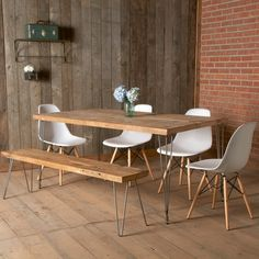 Dining Table with Mid Century and Modern Rustic by UrbanWoodGoods, $1,295.00