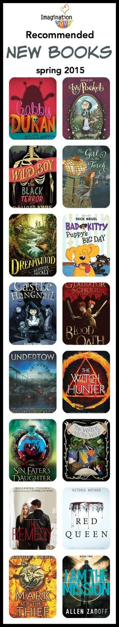 love these lists! Recommended New Books for Kids, Spring 2015