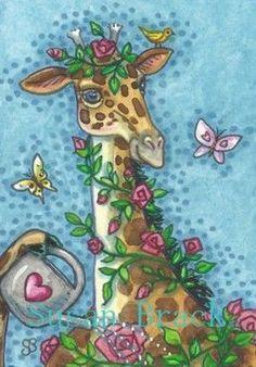 Giraffes grow the best Roses No need for a trellis. Giraffe Decor, Giraffe Art, Cute Giraffe, Elephant, Beautiful Creatures, Animals Beautiful, Cute Animals, Giraffe Pictures, Best Roses