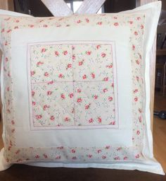 Vintage Style Cushion Cover by PatchworkProjects on Etsy