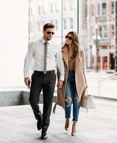 nothing better than a well dressed couple! love it!