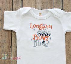 https://www.etsy.com/listing/155565405/ut-university-of-texas-longhorns-baby?ref=listing-1  UT University of Texas Longhorns  Baby by AllThatSassBoutique, $18.00