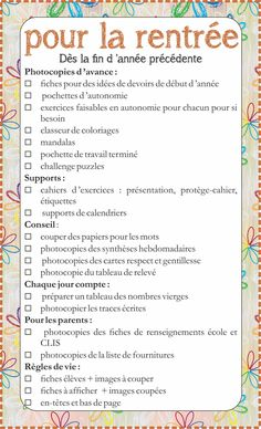 To-do list pour agenda School Organisation, College Organization, Classroom Management Tips, Classroom Rules, Back To School List, First Day Of School, Organization Bullet Journal, Core French, New Class