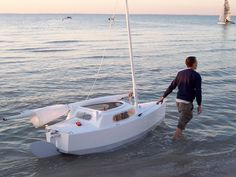 Matt Laydes; Elusion, the boat I am currently building, Exactly the same excepting I have extended it to 11 feet long to account for sleeping area & rear electric diving compressor.