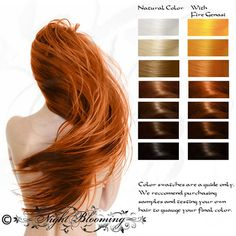 Bright Copper Fire Genasi Herbal Hair Color and Conditioner 10G Sample, at Nightblooming @ Etsy, $1.50