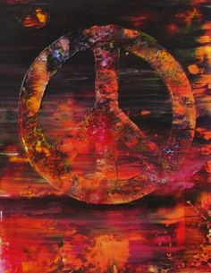 Wall Art Original Abstract Peace Sign Acrylic by rostudios on Etsy, $69.95