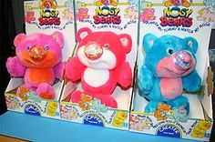Nosy Bears. I still think this is one of the coolest stuffed animals ever.  I had the blue one!