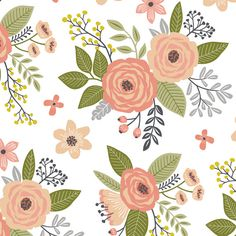 1 yard (or 1 fat quarter) of Vintage Antique Floral Flowers in peach on White by designer caja_design. Printed on Organic Cotton Knit, Linen Cotton Canvas, Organic Cotton Sateen, Kona Cotton, Basic Cotton Ultra, Cotton Poplin, Minky, Fleece, or Satin fabric.  Available in yards and quarter yards (fat quarter). This fabric is digitally printed on demand as orders are placed. Unlike conventional textile manufacturing, very little waste of fabric, ink, water or electricity is used. We print…