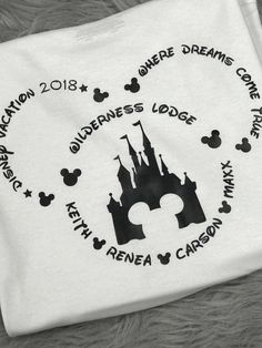 Make custom Disney shirts for family vacation with the destination and year!