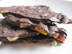 Chili-spiced mango and pepita Chocolate Bark