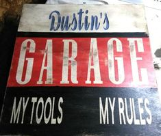 Garage Sign - Personalized Sign - Man Cave Sign - Father's Day Gift - Custom Sign - Custom Gift For Men Home Bar Signs, Coffee Bar Signs, Custom Garages, Man Cave Signs, Garage Signs, Kitchen Signs, Personalized Signs, Gifts For Father, Customized Gifts