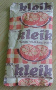 Kleik o smaku pomarańcz.- opakowanie+zawart.z 1988